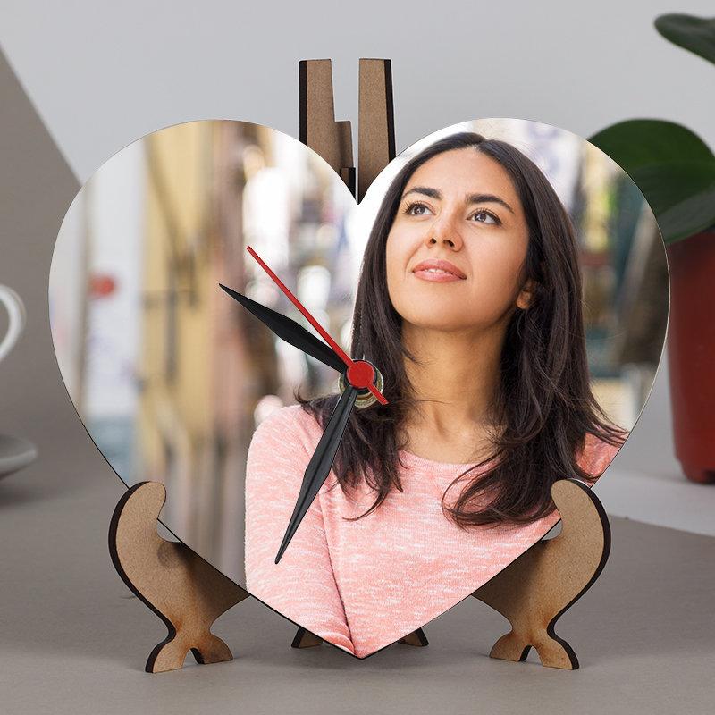 Photo Heart Clock Frame