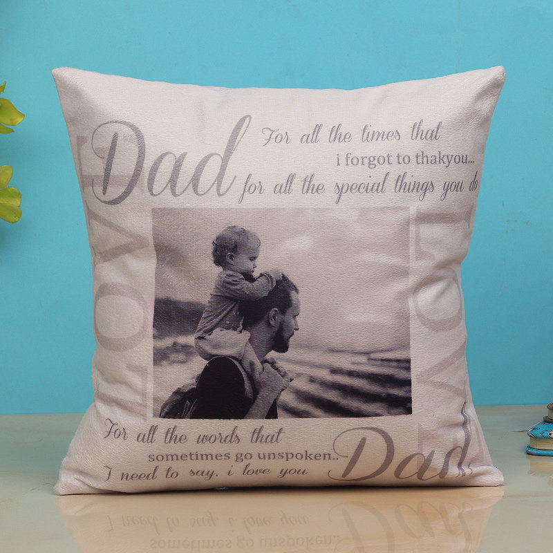 Personalised Cushion With Quote - Fathers Day