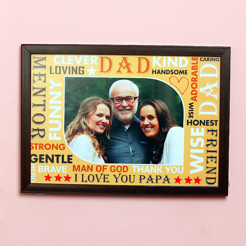 Personalised Fathers day Wall Frame for Dad
