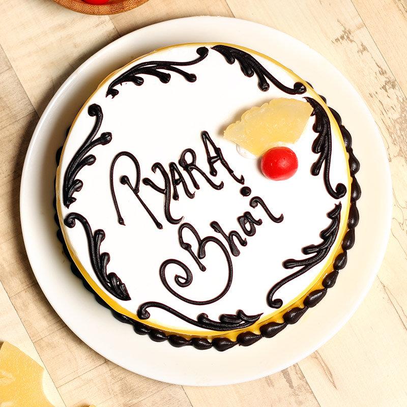 Pineapple Cake with Rakhi