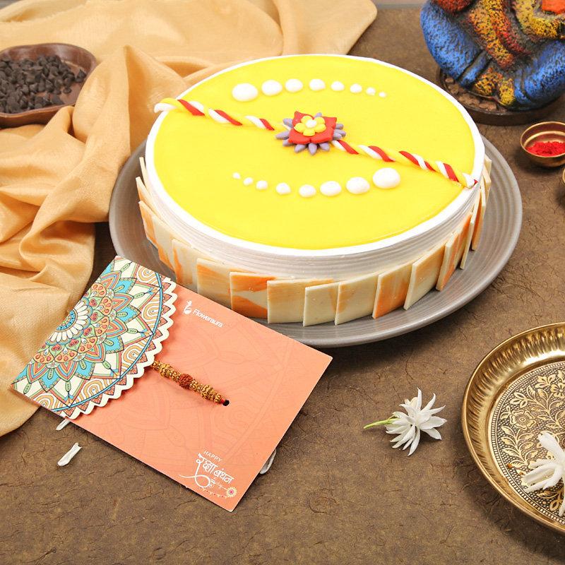 Pineapple Rakhi Cake - Order for Fastest Delivery