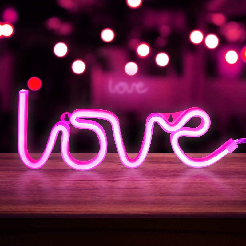 Pink Neon Love Lights