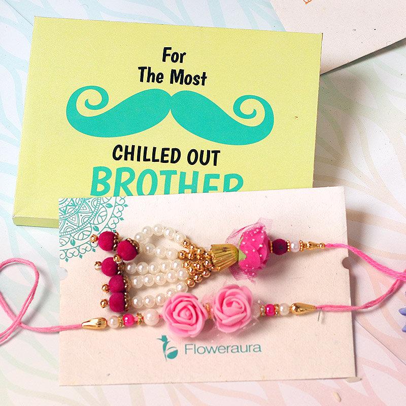 Products in Pink Rose Bhaiya Bhabhi Rakhi - Online Rakhi Gifts for Bhaiya Bhabhi