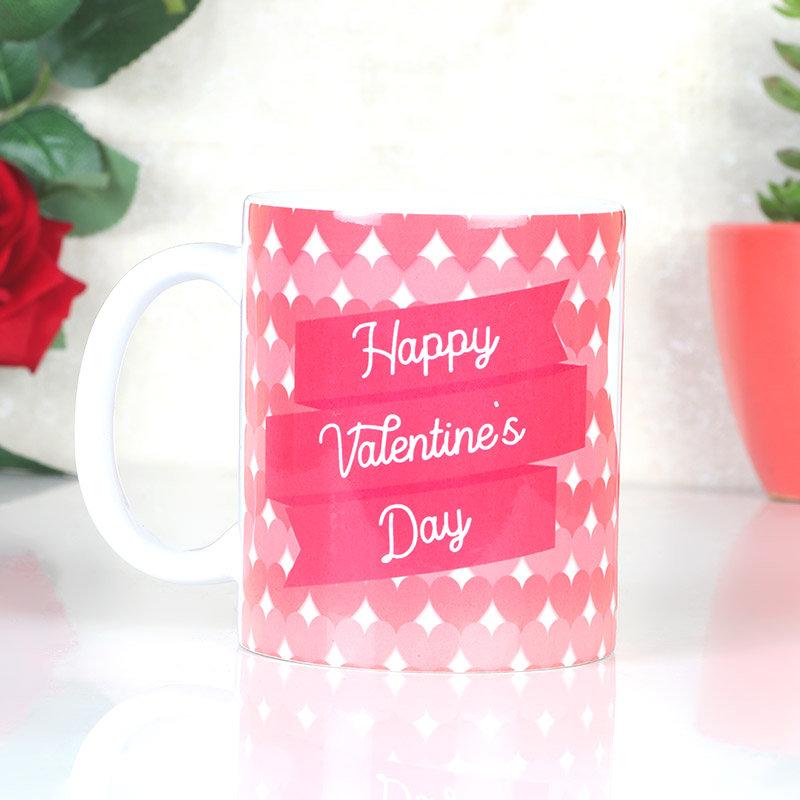 Pink Valentines Day Mug