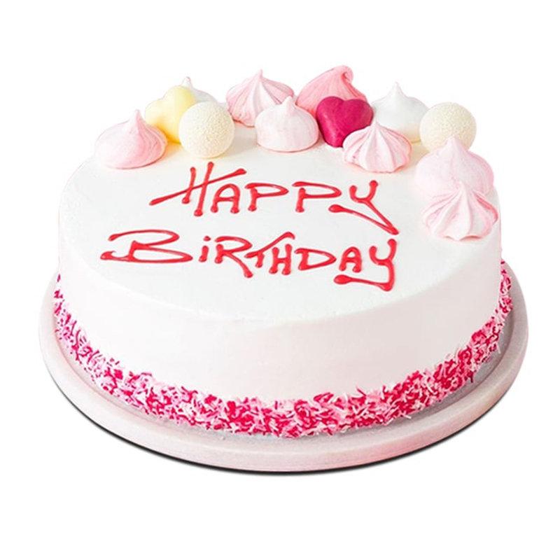 Pinkish White Cake