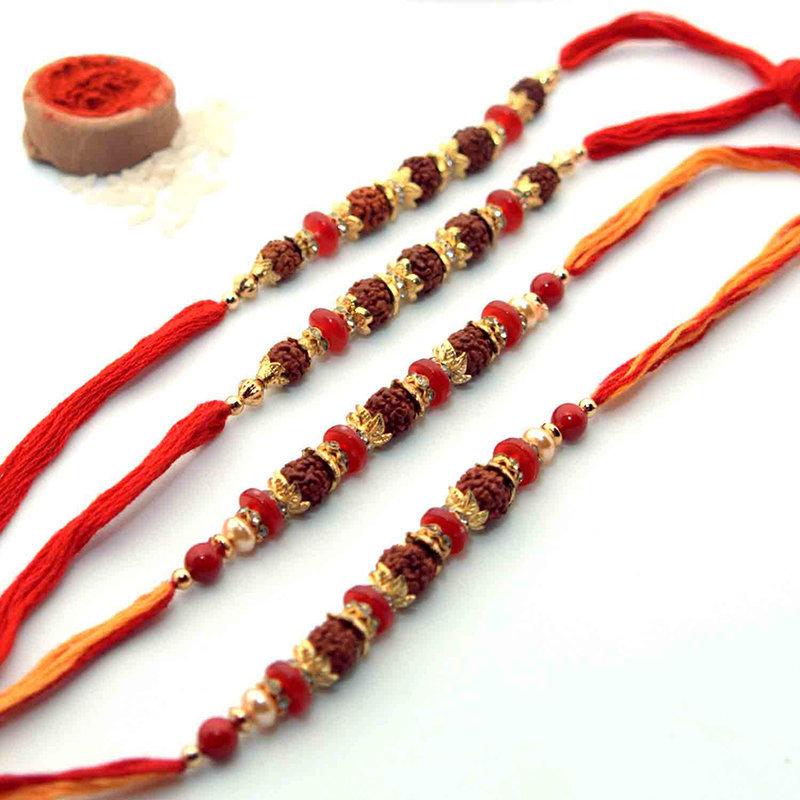 Pious Seeds Of Rudraksha Rakhis