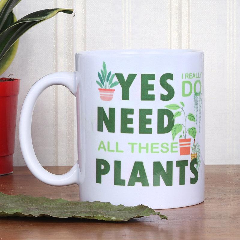Plant Print Mug