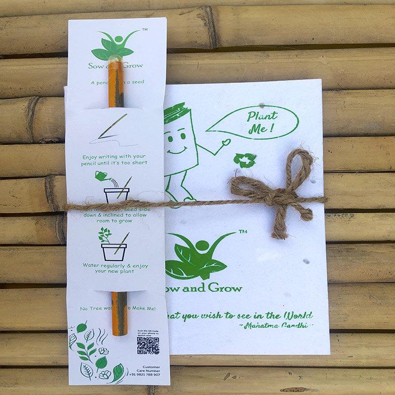 Plantable Diary N Pencil Combo