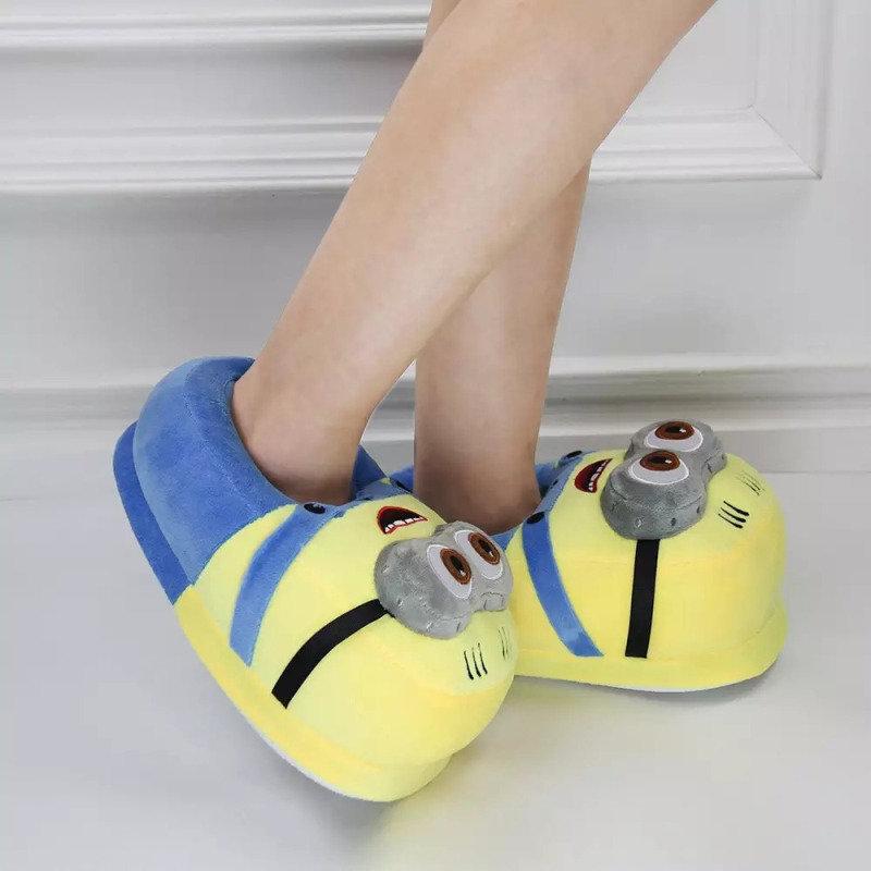 Plush Minion Slippers