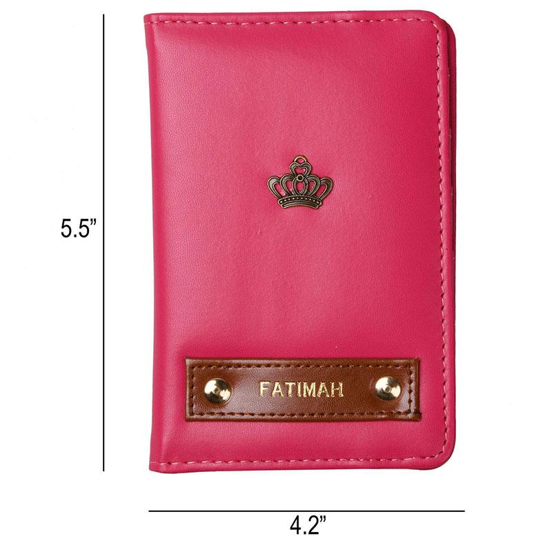 Dimension of Plushy Pink Passport Wallet