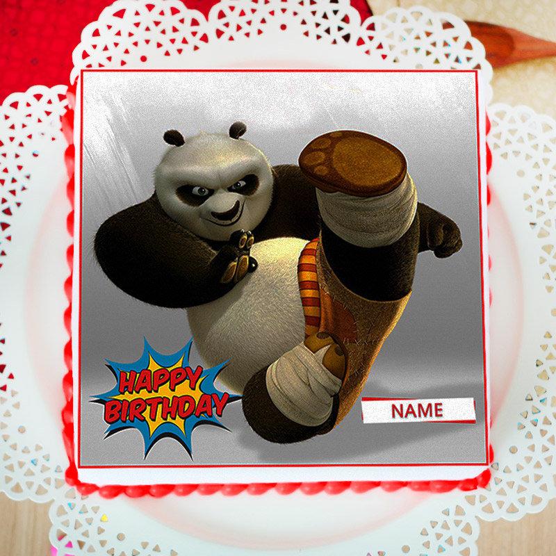 Panda Themed Photo Cake For Children