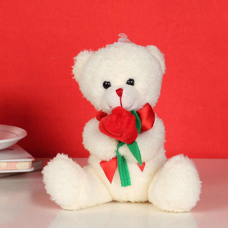 valentines Pocket Teddy With Rose