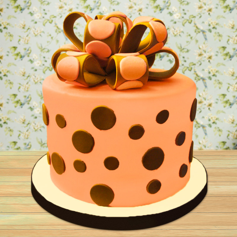 Polka sweet love fondant cake for girls