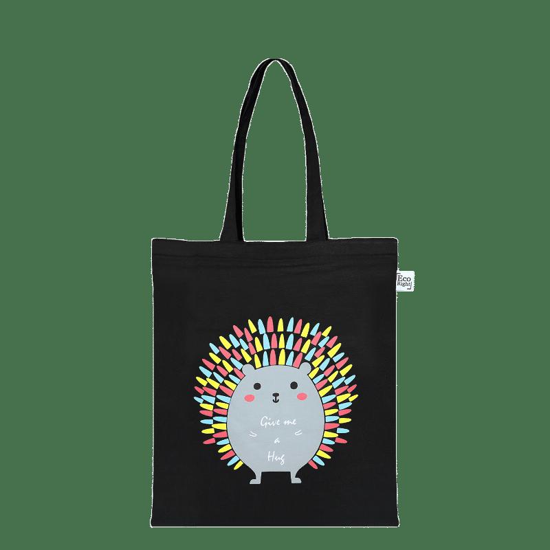 Porcupine Zip Tote BagPorcupine Hug Zipper Tote Bag