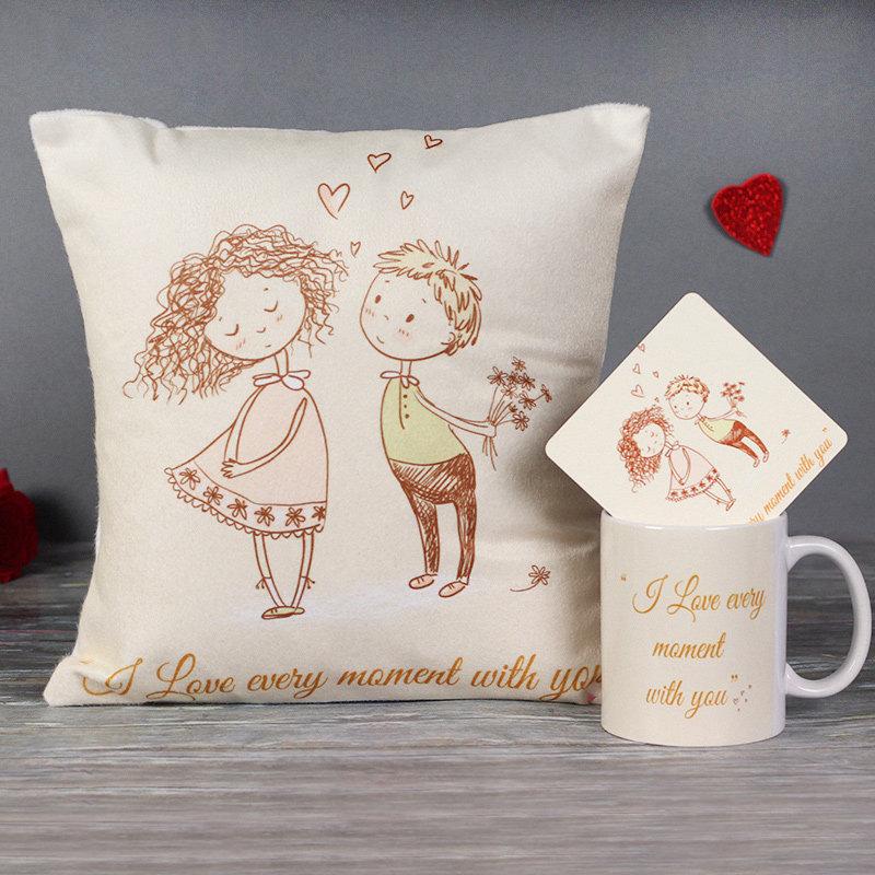 Precious Moments Combo of Mug, Cushion and Coaster