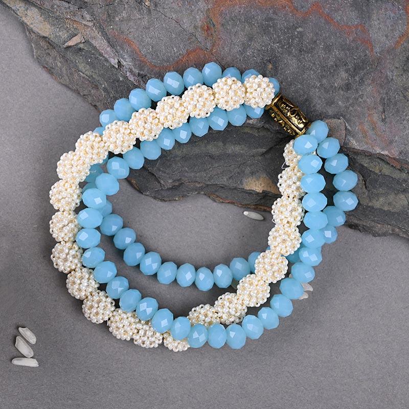 Send Bracelet Rakhi With Floweraura Box Online