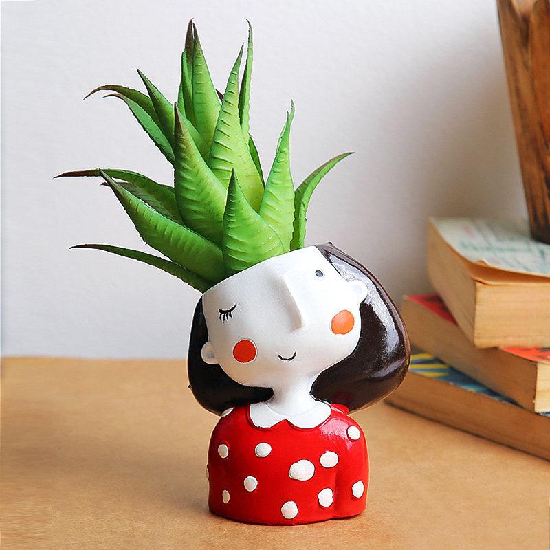 Online Plant - Pretty Red Girl Vase