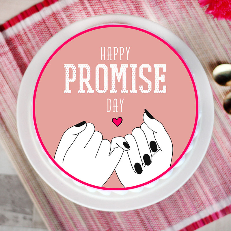 Promise Day Poster Cake