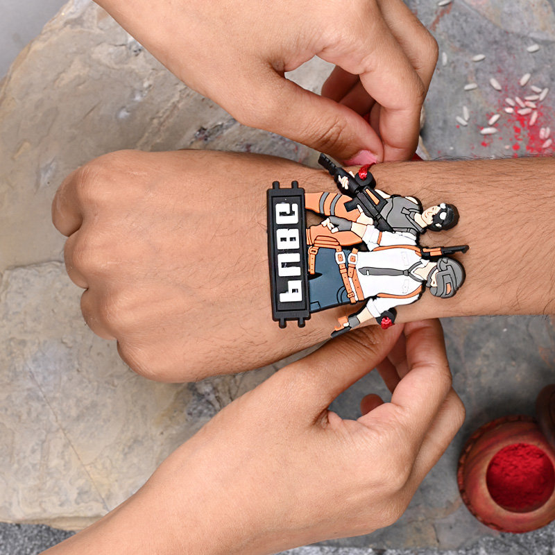 Pubg Mania Rakhi on Children Wrist