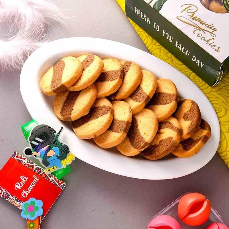 Pubg Rakhi And Choco Marble Cookies