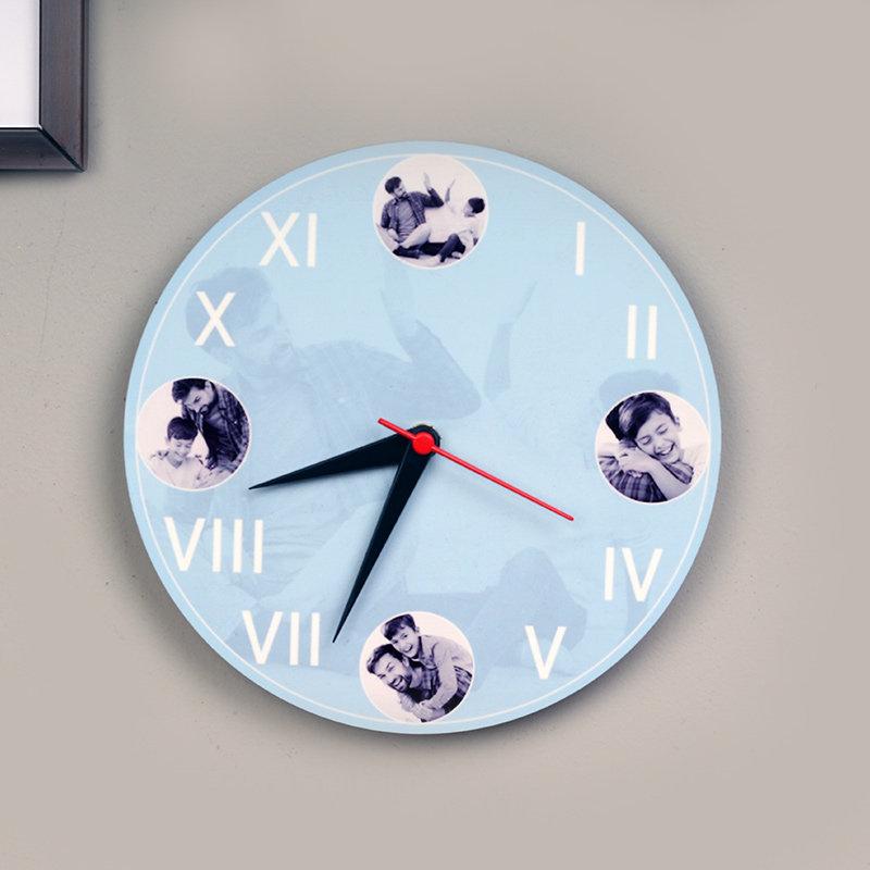 Punctual Dad Personalised Wall Clock