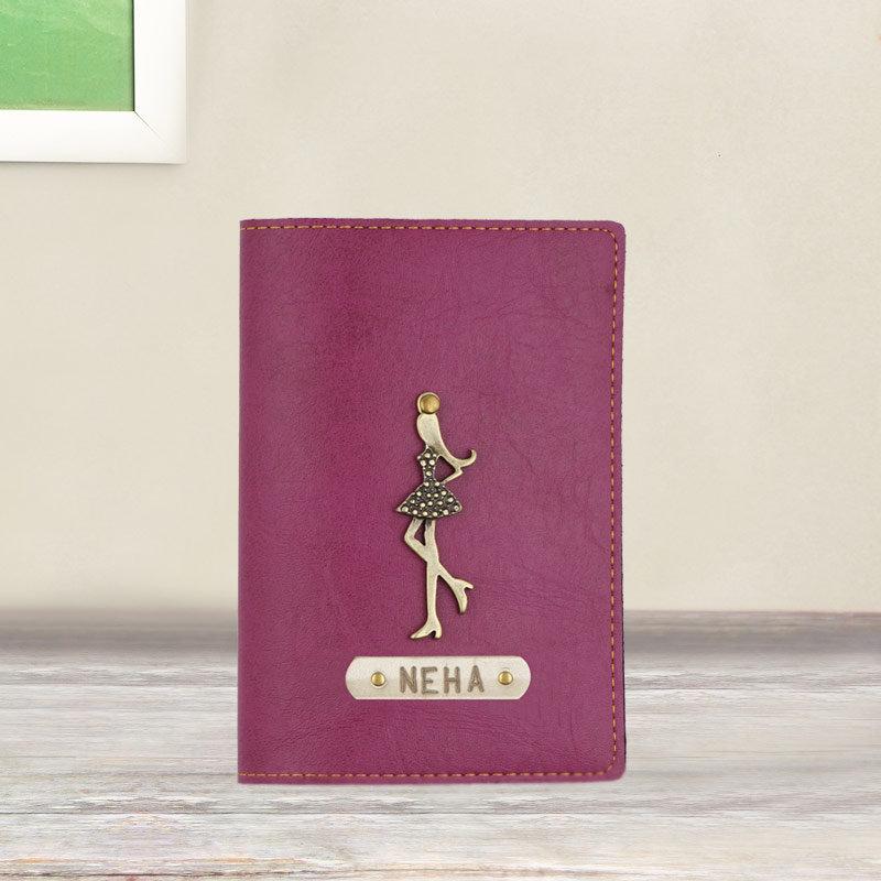Customized Passport Cover in Purple Color