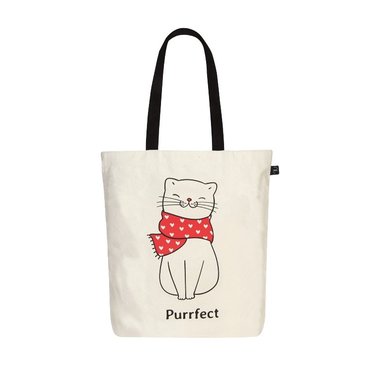 Purrfect Kitty Tote Bag: Purrfect Simple Tote Bag