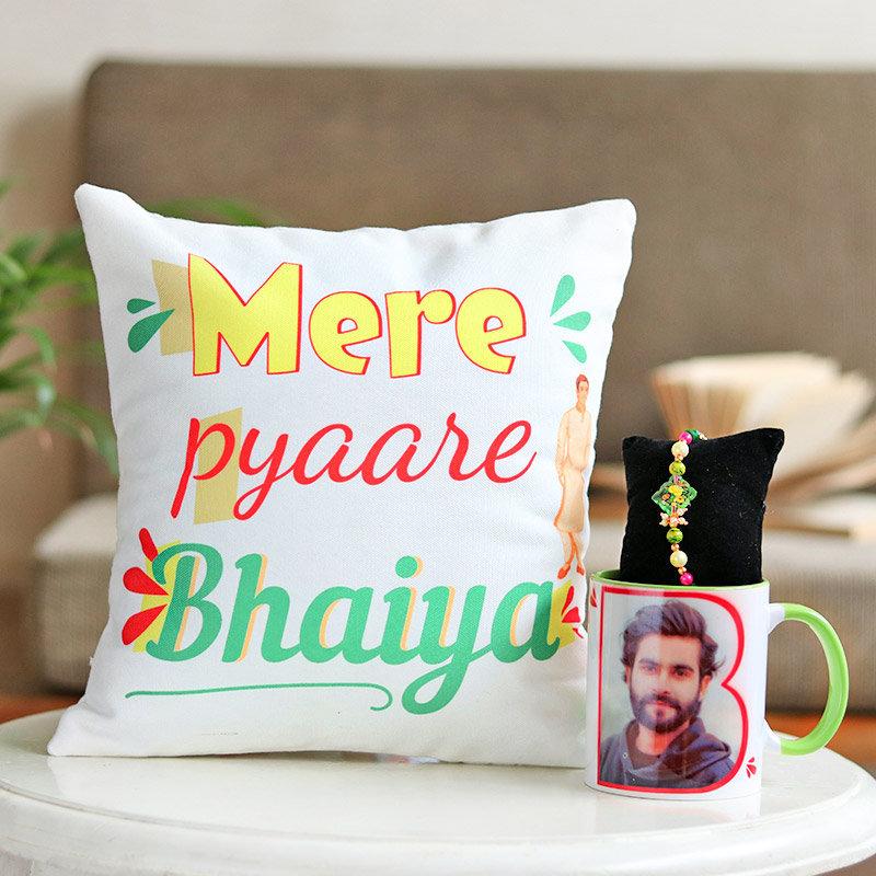 Pyare Bhaiya Custom Rakhi Combo