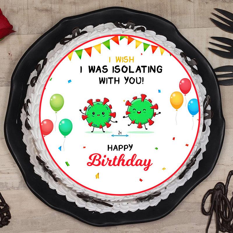 Quarantine Birthday Poster Cake