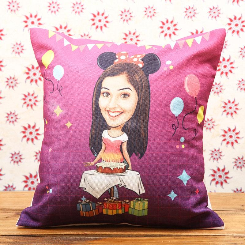 Quirky Customised Birthday Cushion