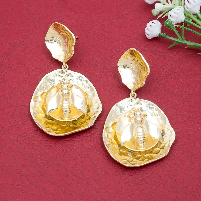 Quirky Gold Toned Earrings
