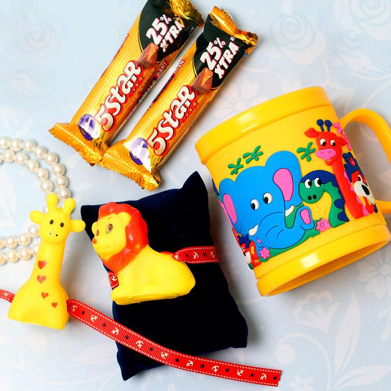 Quirky Jungle Rakhi Gift Set