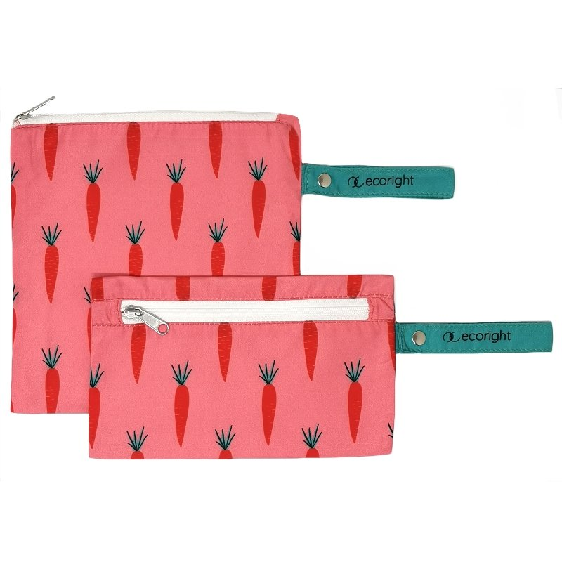 Quirky Pink Eco Friendly Bags: Carrot Love Snack Pouches