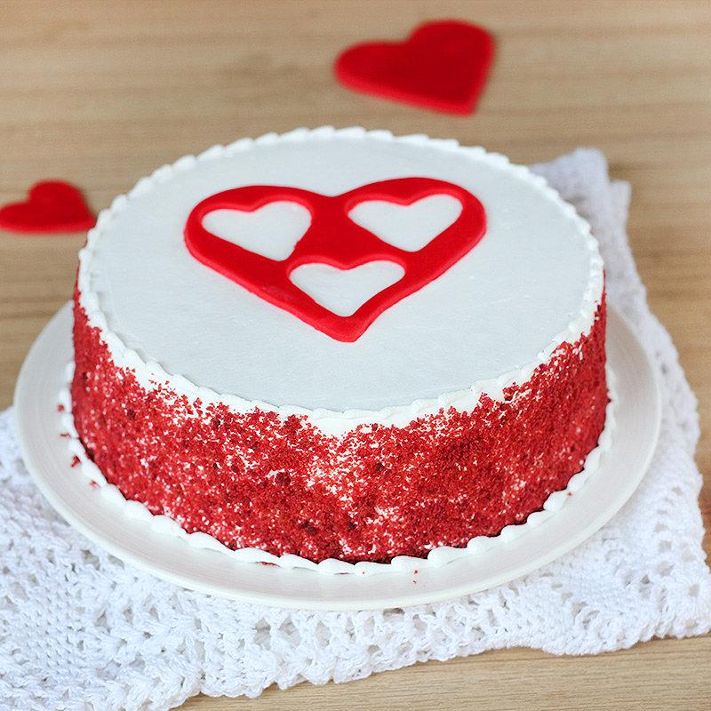Radiant Bliss - Red Velvet Cake with Heart in Centre