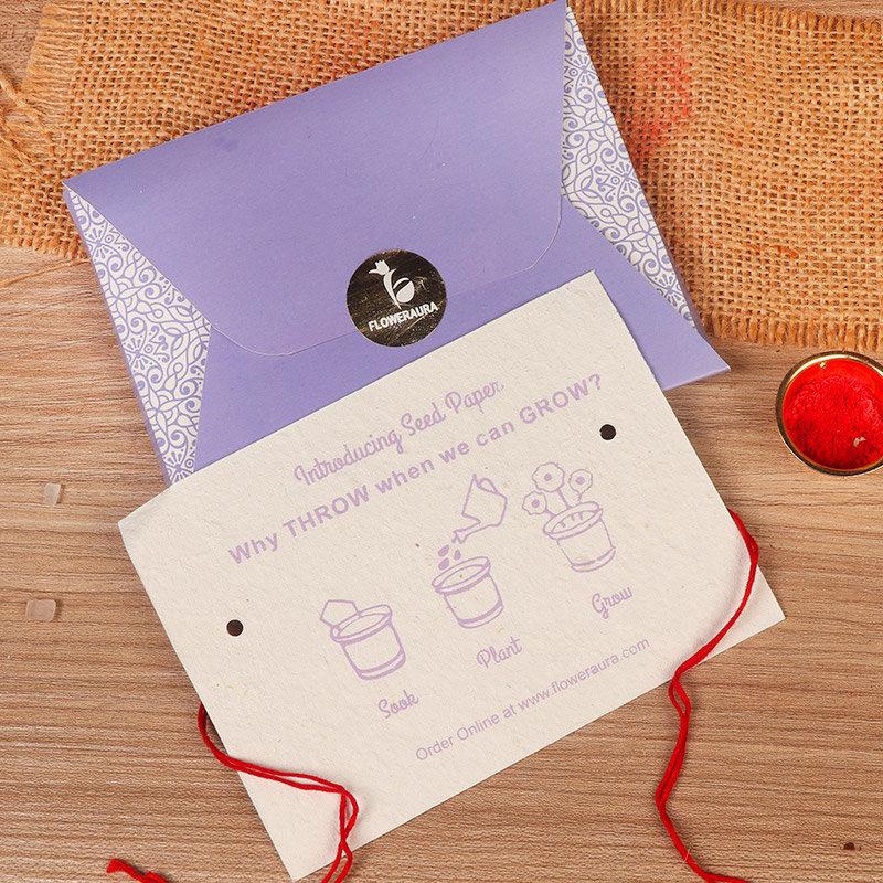 Rakhi Card in Rakhi Gifts for Brother Online - Rainbow Stone Rakhi