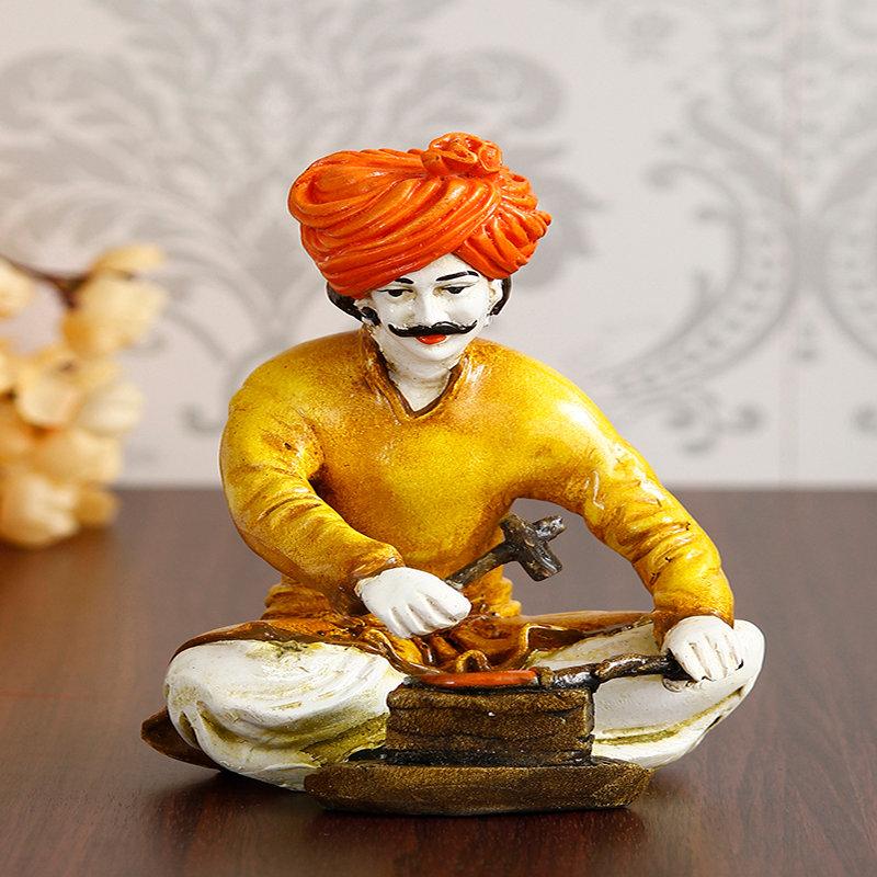 Rajasthani Tabla N Man Figurine