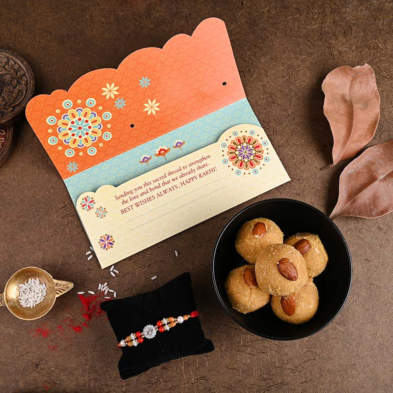 Rakhi sweets cards for brother online