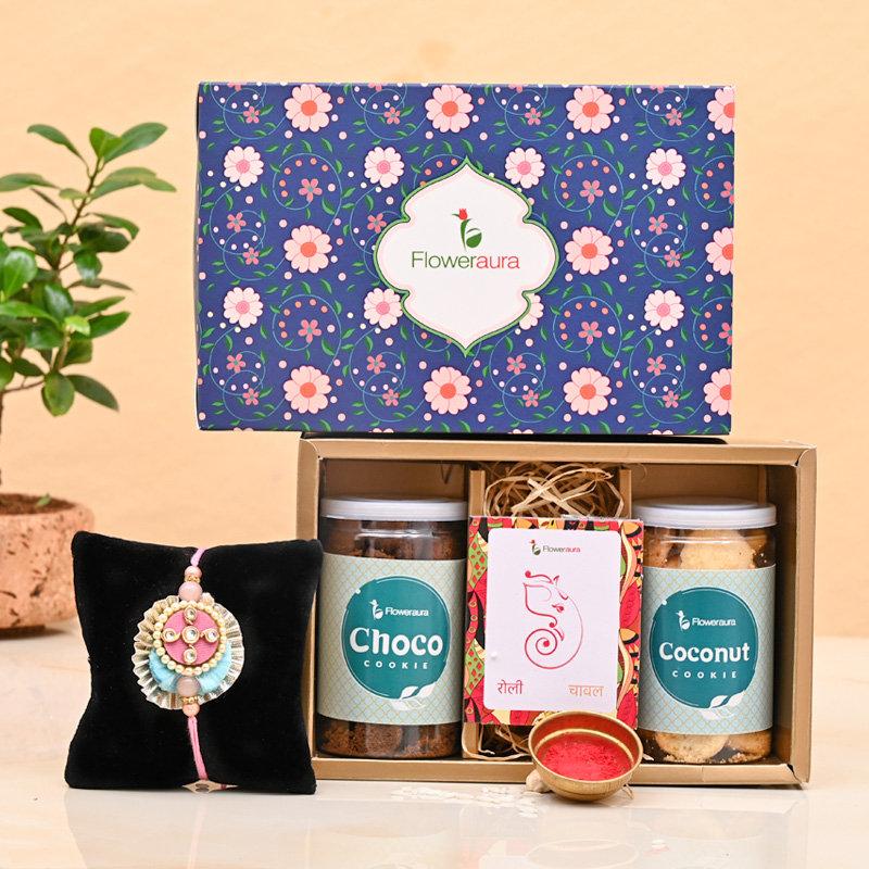Rakhi Cookies Signature Box - One Designer Rakhi