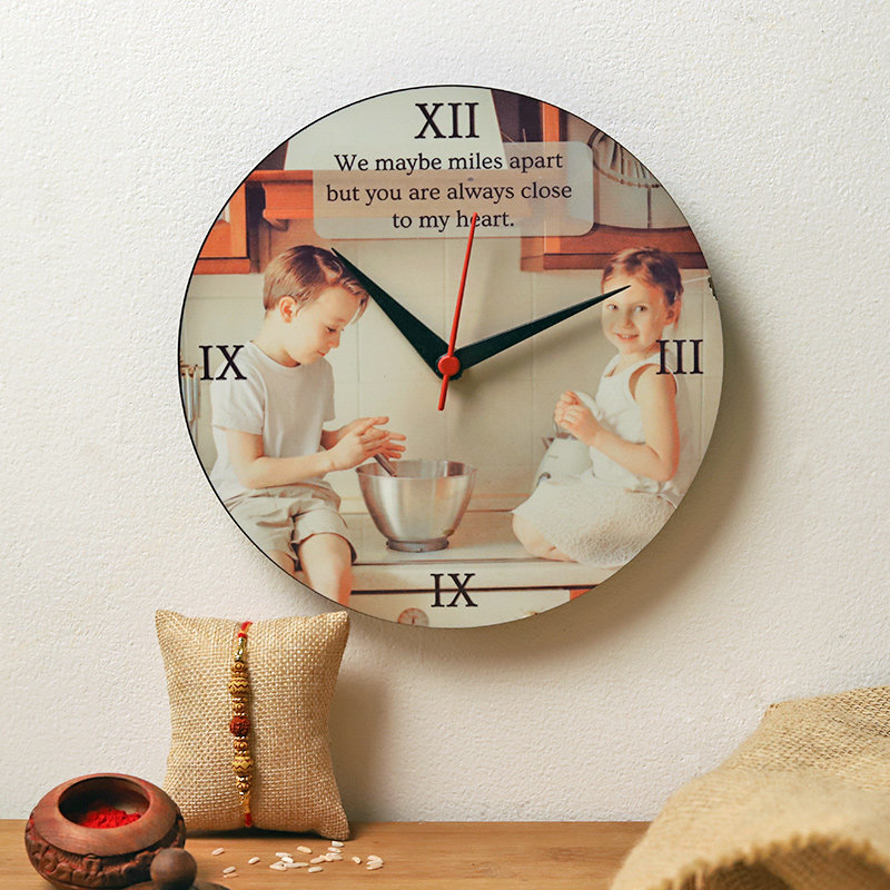 Rakhi N Personalised Clock Combo
