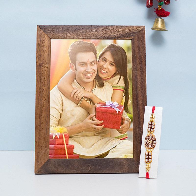 Rakhi N Personalised Wooden Frame