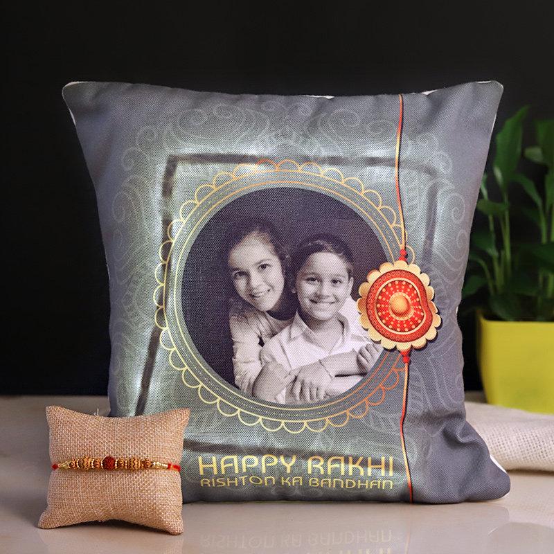 Rakhi Personalised Cushion Combo