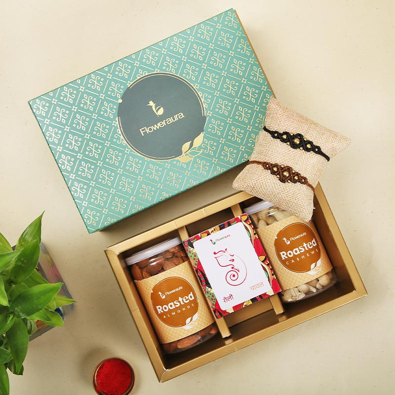 Rakhi Special Signature Box - Set of 2 Designer Rakhi