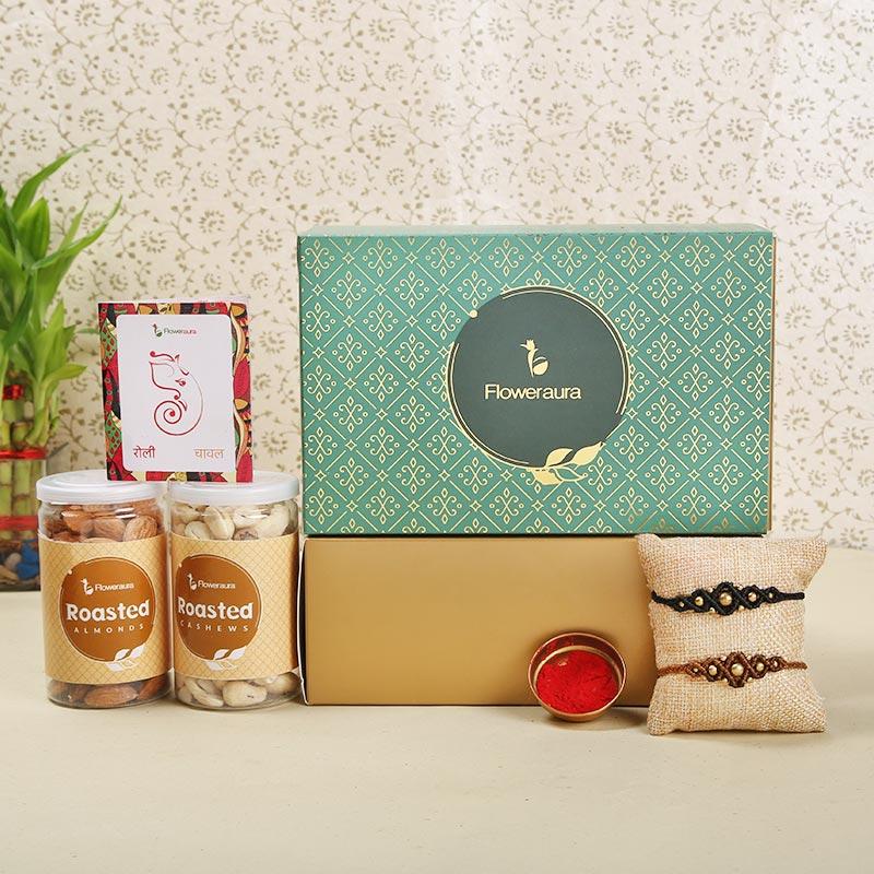 Set of 2 Designer Rakhi - Rakhi Special Signature Box