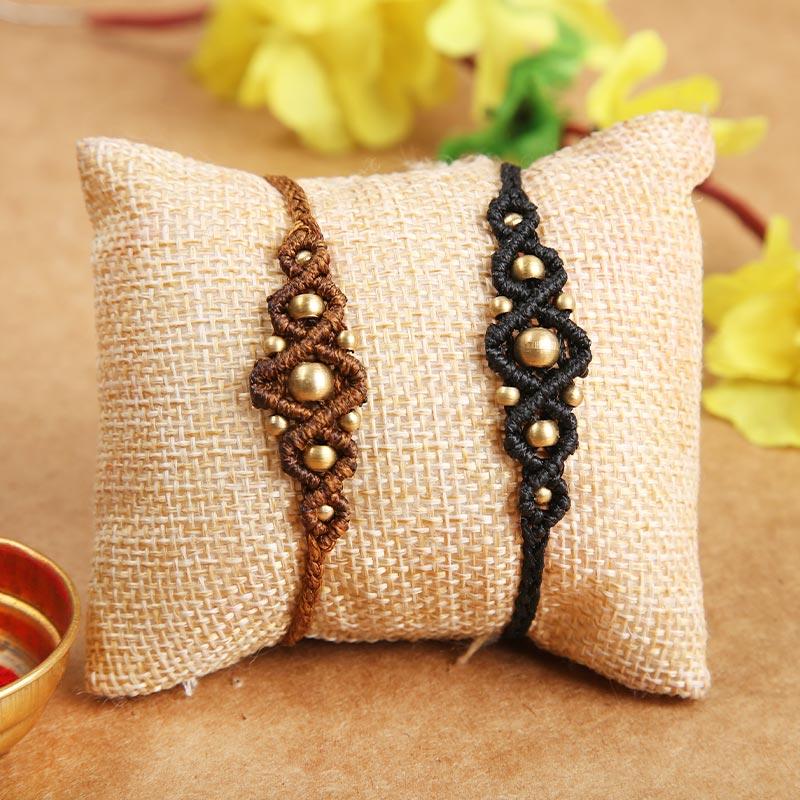 Send Set of 2 Designer Rakhi Online