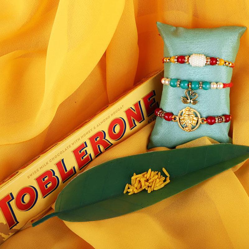 Rakhi Toblerone Gift Combo