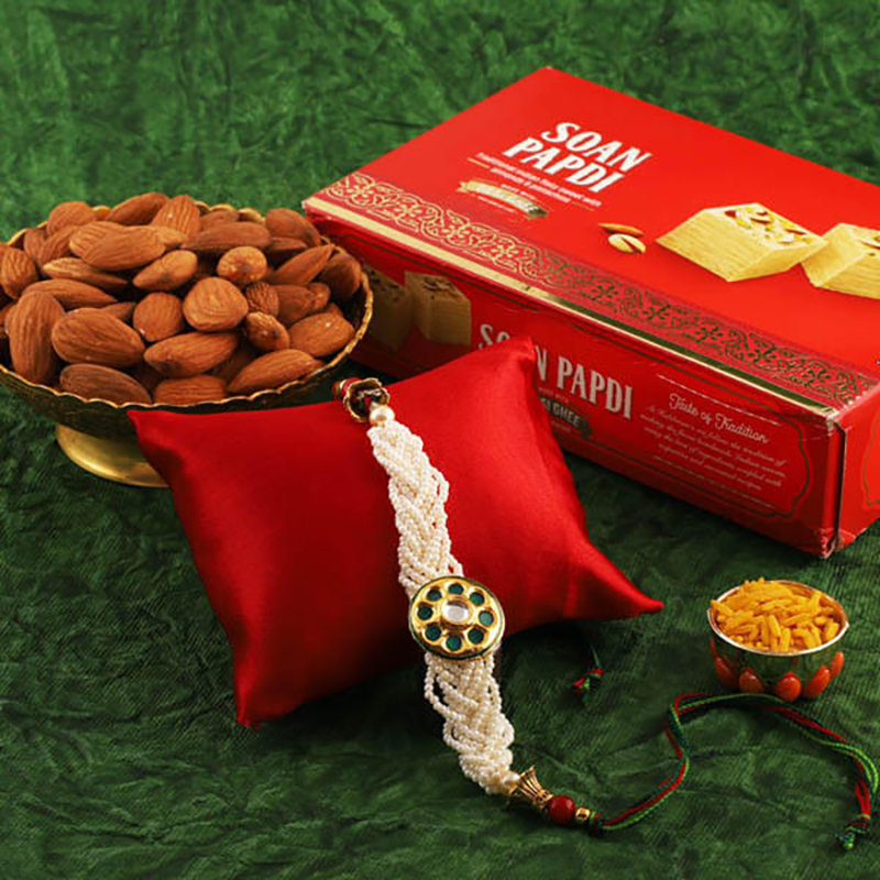 Rakhi With Soan Papdi & Almond