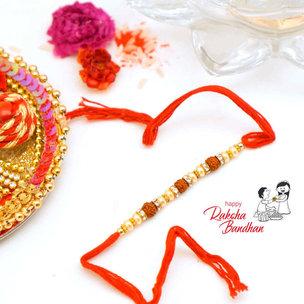 Ravishing Rudraksha Pearl Rakhi