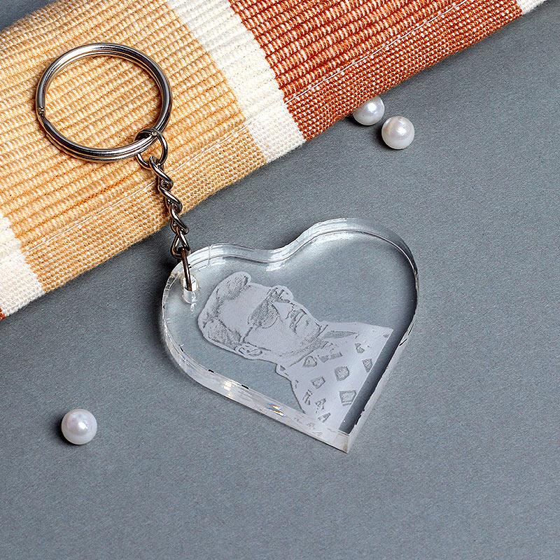 Heart Shaped Personalised Keyring
