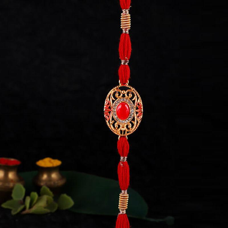 Red & Gold Rakhi
