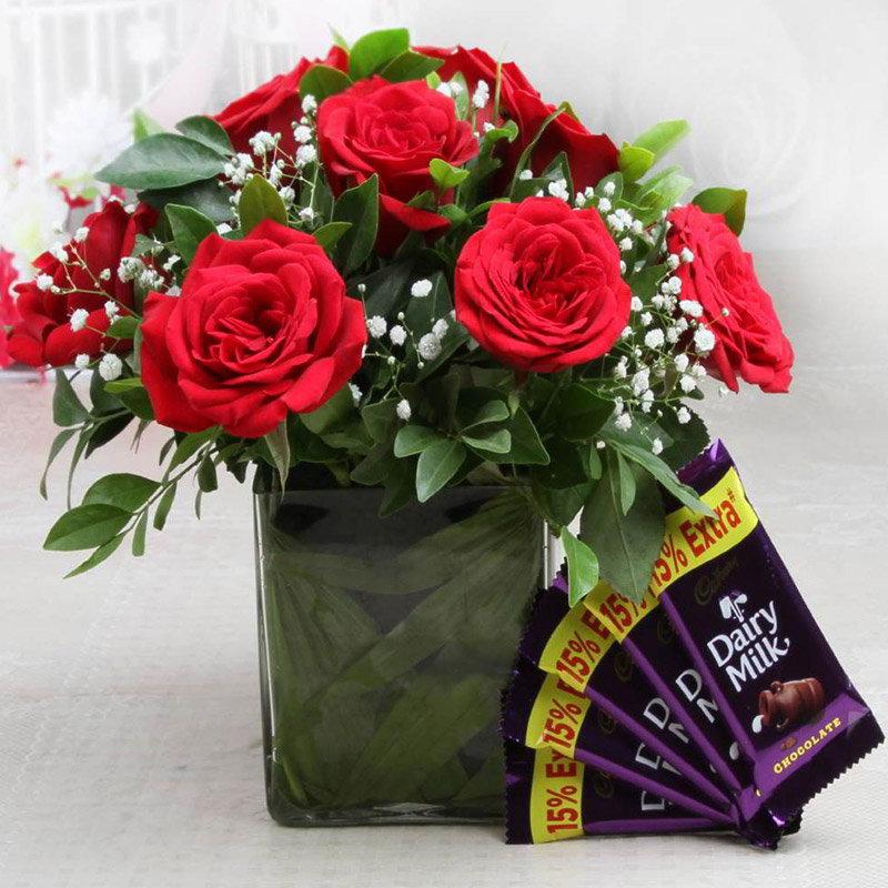 Beautiful Red Chocolaty Combo